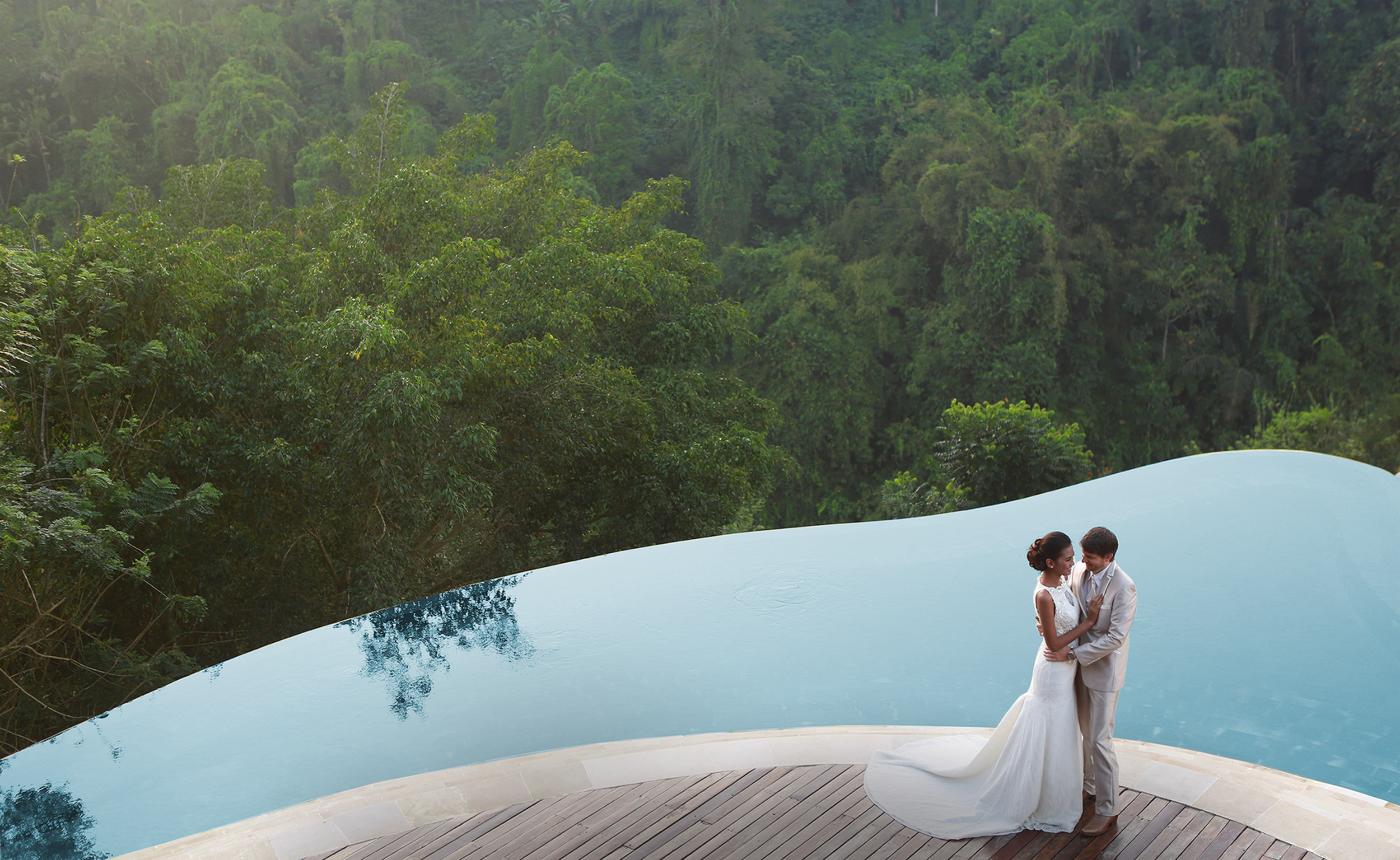 wedding at hanging gardens of bali ceremony ubud package